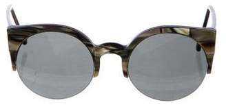 RetroSuperFuture Marbled Round Sunglasses