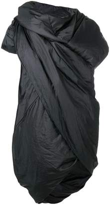 Rick Owens padded wrap coat