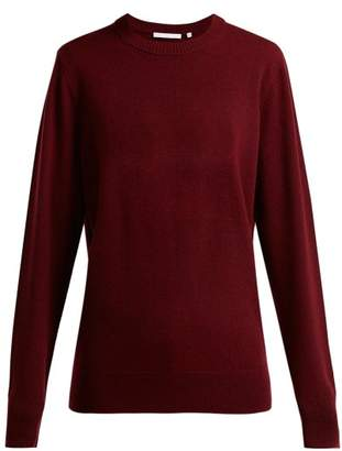 Helmut Lang Crew Neck Cashmere Sweater - Womens - Burgundy