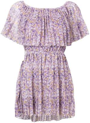 Blumarine pleated floral blouse