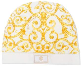 Versace patterned knit hat
