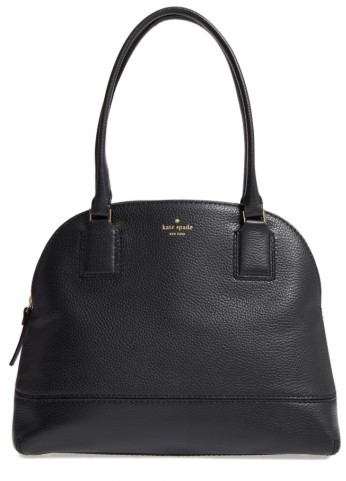 Kate Spade New York Young Lane - Small Anika Leather Dome Satchel - Black