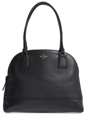 Kate Spade New York Young Lane - Small Anika Leather Dome Satchel - Black $358 thestylecure.com