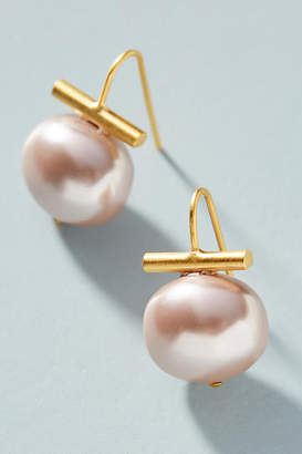Catherine Canino Pebble Pearl Drop Earrings