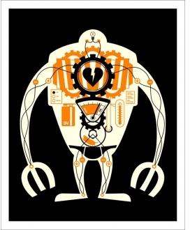 Pin It Hybrid-Home Visible Robot - Orange