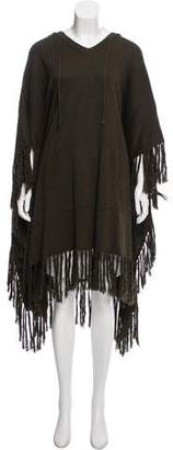 Bergdorf Goodman Hooded Knit Poncho