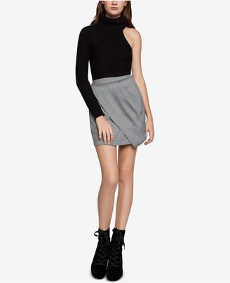 BCBGeneration Houndstooth Plaid Skirt