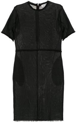 Jil Sander frayed hem shift dress