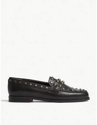 Claudie Pierlot Amoi leather studded shoes