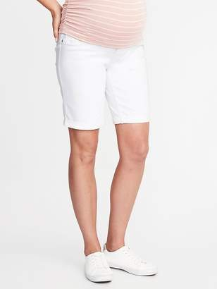 "Old Navy Maternity Full-Panel Slim Bermuda Shorts (9"")"
