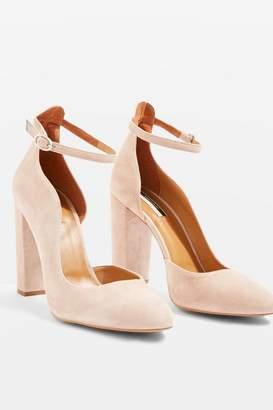 Topshop Gracie Buckle Detail Court Shoes