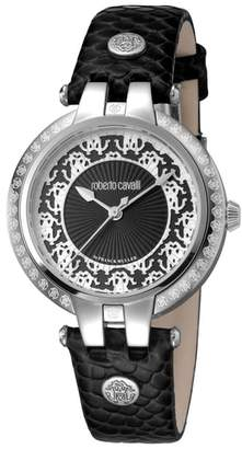 Roberto Cavalli BY FRANCK MULLER Pizzo Leather Strap Watch