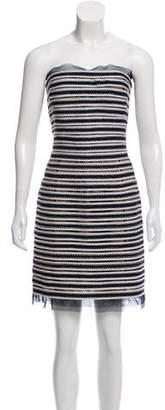 Oscar de la Renta Strapless Mini Dress