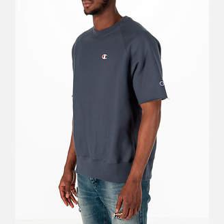 Champion Men's Reverse Weave Short-Sleeve Crew Sweatshirt