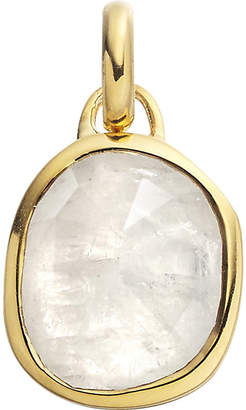 Monica Vinader Siren 18ct gold-plated vermeil and moonstone pendant