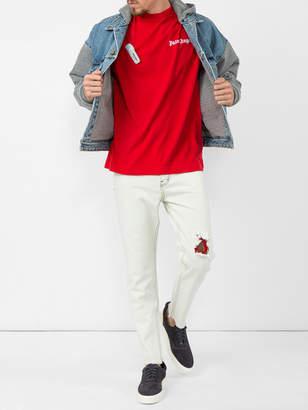 Fear Of God Selvedge denim hooded trucker jacket