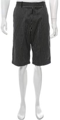 Rag & Bone Wool-Blend Pinstripe Shorts