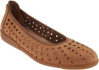 Sesto Meucci Nubuck Perforated Skimmer Shoes - Diva