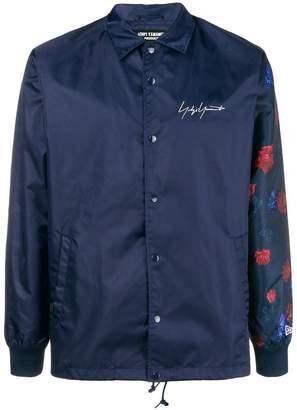 Yohji Yamamoto floral print sleeve bomber jacket