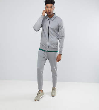 Asos DESIGN TALL Retro Tracksuit Set Harrington Jacket/ Skinny Joggers