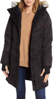 nobis Abby Hooded Down Parka with Genuine Coyote Fur Trim
