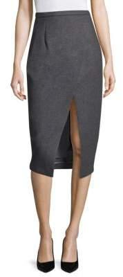 Michael Kors Collection Wool Scissor Skirt