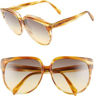 Celine 62mm Special Fit Oversize Cat Eye Sunglasses