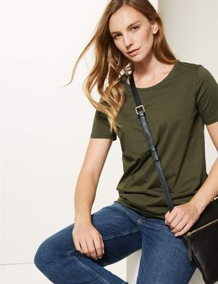 Marks and Spencer Pure Cotton Crew Neck T-Shirt