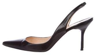 Pre-Owned at TheRealReal · Christian Louboutin Leather Slingback Pumps