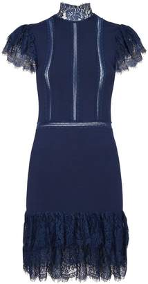 Alice + Olivia Lace Trim Roset Dress