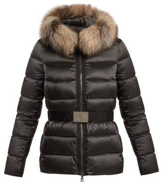 COM · Moncler Tatie Quilted Down Jacket - Womens - Black