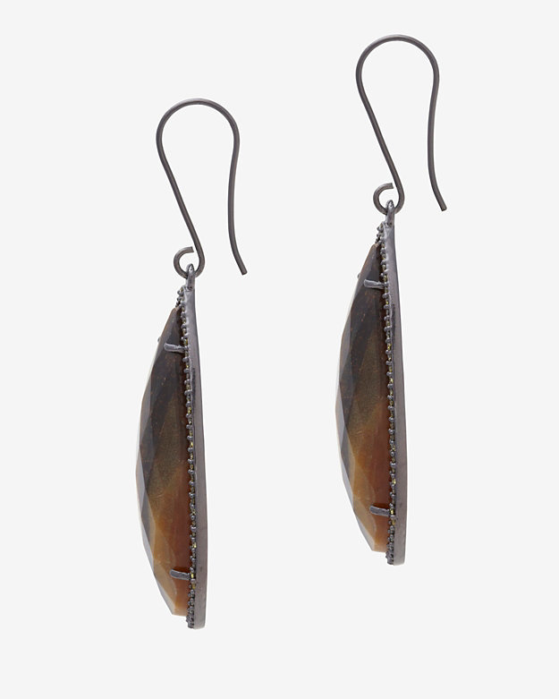 Susan Hanover Faceted Stone Hook Earrings