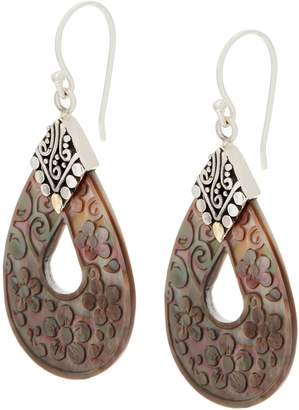 Mother of Pearl Artisan Crafted Sterling Mother-of-Pearl Pear Shaped Drop Earrings