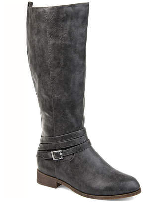 Journee Collection Womens Jc Ivie Xwc Stacked Heel Zip Riding Boots
