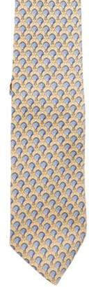 Burberry Anchor Print Silk Tie