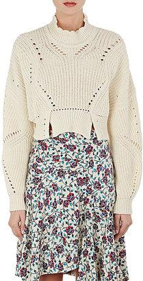 Isabel Marant Women's Gane Cotton-Blend Crop Sweater $690 thestylecure.com