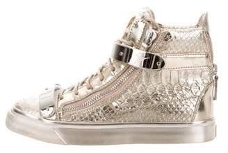 Giuseppe Zanotti Metallic High-Top Sneakers