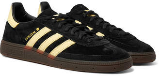 adidas Handball Spezial Leather-trimmed Suede Sneakers - Black
