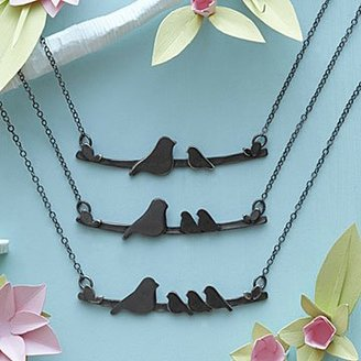 Mother Nestling Birds Necklace $70 thestylecure.com