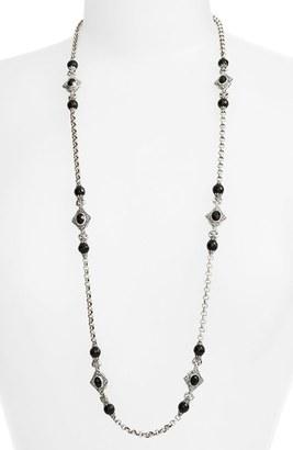 Women's Konstantino 'Nykta' Long Onyx Station Necklace $850 thestylecure.com