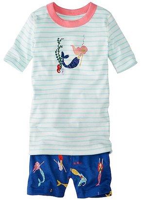 Kids Short John Pajamas In Organic Cotton $38 thestylecure.com