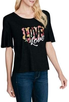 Jessica Simpson Love is Love Graphic Top