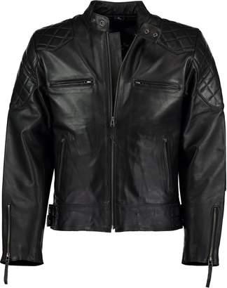 David Beckham Charlie LONDON Mens Stannard Leather Jacket