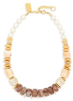 Lizzie Fortunato Pink Sands Freshwater Pearl Collar Necklace