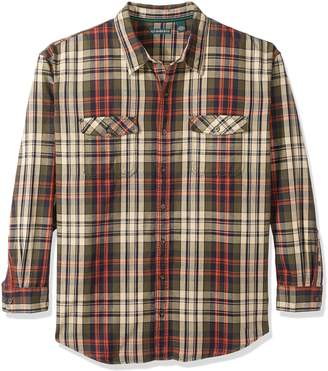 G.H. Bass & Co. Men's Big and Tall Long Sleeve Double Pocket Mountain Twill Shirt
