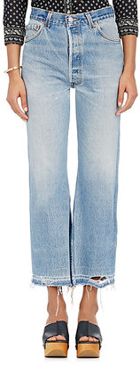 RE/DONE Women's Leandra Crop Flared Jeans $348 thestylecure.com