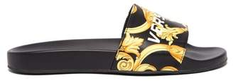Versace Baroque Print Slides - Mens - Black Gold