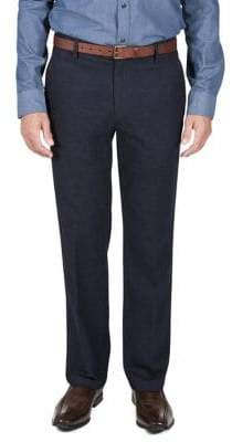 Haggar Heritage Straight-Fit Pindot Casual Trousers