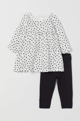 H&M Jersey dress and leggings