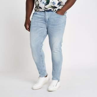 River Island Mens Big and Tall light Blue skinny jeans